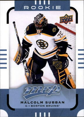 2015-16 Upper Deck MVP Boston Bruins Hockey Card #180 Malcolm Subban SP Rookie