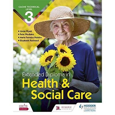 CACHE Technical Level 3 Extended Diploma in Health and  - Paperback NEW Peteiro,