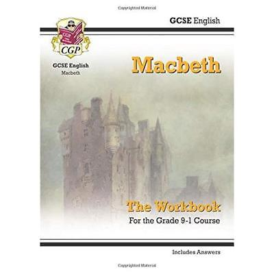 New Grade 9-1 GCSE English Shakespeare - Macbeth Workbo - Paperback NEW Books, E