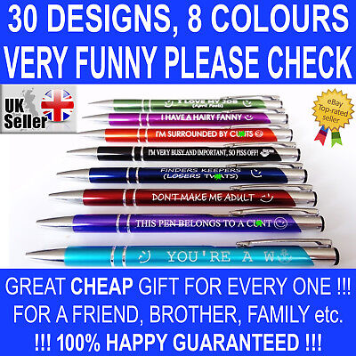 Funny Pens - Rude Cheeky Novelty Office Stationary Secret Santa Sweary Pen Fun