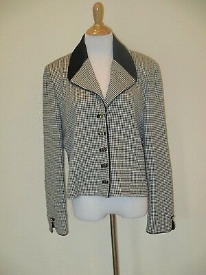 St. John Collection Black/White Houndstooth  Sweater/Blazer size 14-EUC
