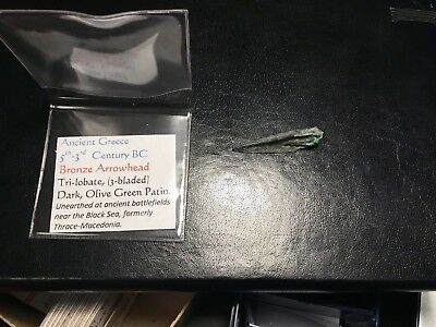 Ancient Greece Bronze Arrowhead 5th-3rd Century BC Tri-lobate (3-bladed)
