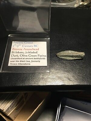 Ancient Greece Bronze Arrowhead 5th-3rd Century BC Bi-lobate (2-bladed)