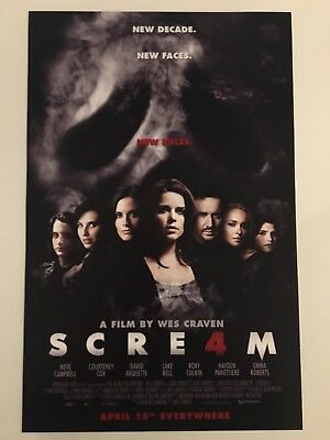 Scream 4 Theatrical Release 11x17 Movie Poster (2011)