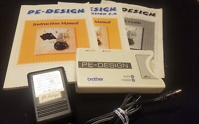 PE Design Unit & Instruction Booklet & Power Cord For Brother