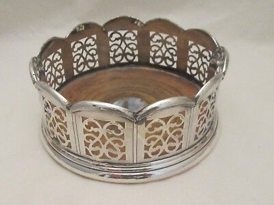 A Fine 19th Century Silver Plated Wine Bottle Coaster / Champagne Coaster