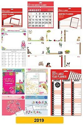 2019 CALENDARS - Wall Planner Home Organiser Memo Large Week/Month/Year to View