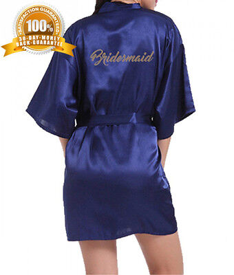 690e02001b4 WPFING Bride Robes Satin Bridesmaid Personalised for Bridal Party Glitter