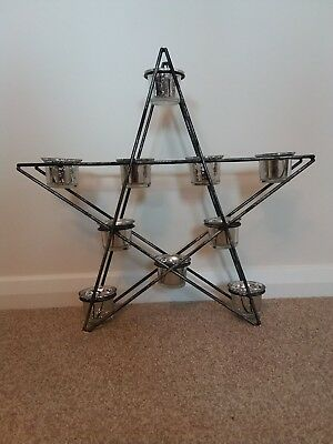 Christmas Star 10 Tea Light Holder Decoration