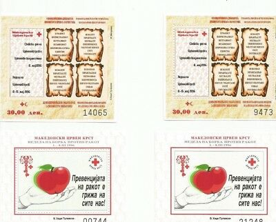 Macedonia Group 4 Sheets Perf And Imperf Mnh