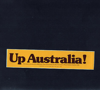 1979 Vintage 4BK Music Sticker UP AUSTRALIA Wayne Roberts Radio 1296 later B105