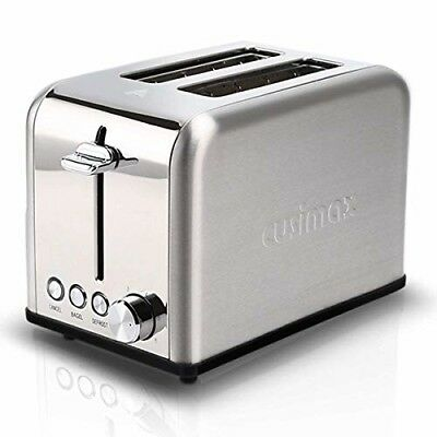 2-Slice Toaster 2 Wide Slot - Stainless Steel Compact Bagel Toaster - 6 Shade...