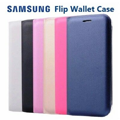 NEW Official Samsung Galaxy Slim Flip Case Wallet Leather PU Card Book Cover