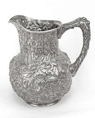 Kirk & Son Inc 925/1000 Sterling Full Body Repousse Water Pitcher