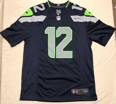 ... sale nike on field mens m nfl seattle seahawks 12th man football jersey  12 fan euc 5280ae1d2