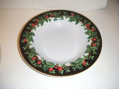 """Waverly HOLIDAY BOUQUET 9 1/8"""" Soup / Salad Bowls  (Set of 6)"""
