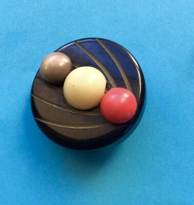 A 27mm Vintage Art Deco Black, Cream & Red Extruded Celluloid Button