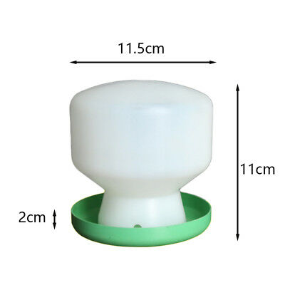 Plastic Drinker Poultry Bird Chick Water Feeder Drinking Green+White Pet 1Pcs