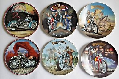 4 Easyriders Plates From Collection by David Mann 1994 Plus 2 Extra 1995 6 Total