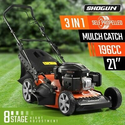 "SHOGUN 3-In-1 Cordless Lawn Mower Self Propelled 21"" 196cc 4 Stroke Petrol"