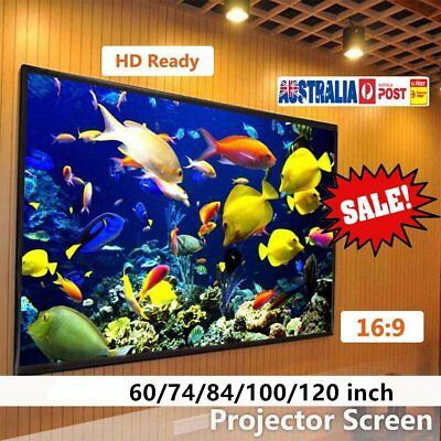 "60/72/100/120"" Projector Screen 16:9 Portable Home Theatre Outdoor Projection QR"
