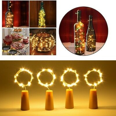 Cork Shaped 15/20 LED Night Light Starry Lights Wine Bottle Lamp Party Colorful