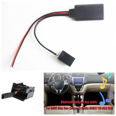 For BMW Mini One Cooper S Radio BOOST CD53 Bluetooth Adapter Aux Audio Cable Kit