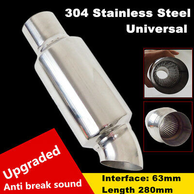 NEW Car Muffler Exhaust Pipe Tip Resonator Polished Bent Burnt Tip And Silencer
