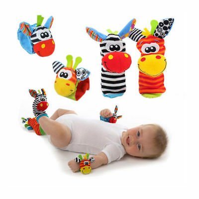 Rattle Set Baby Sensory Toys Foot-finder Socks Wrist Rattles Bracelet UK