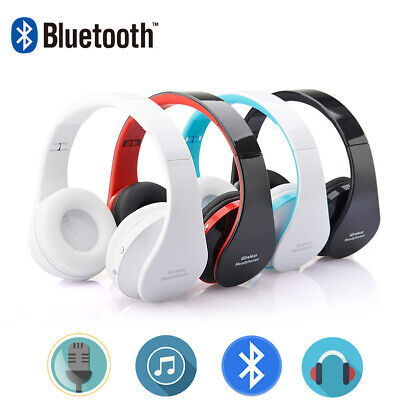 Foldable Wireless Bluetooth Stereo Headset Headphones Mic for iPhone Samsung CHZ