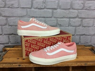 a7f378a5b7afe2 Vans Ladies Uk 3 Blossom Pink White Suede Old Skool Trainers Summer