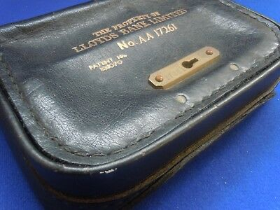 Leather Lloyds Bank Limited Portable Night Safe No.AA 17261 - Circa 1930