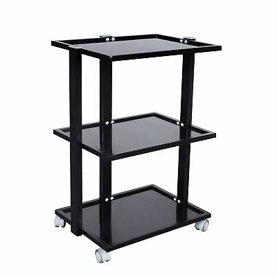 Glass Salon Trolley Beauty Hair Spa Product Display Cabinet by Urbanity black
