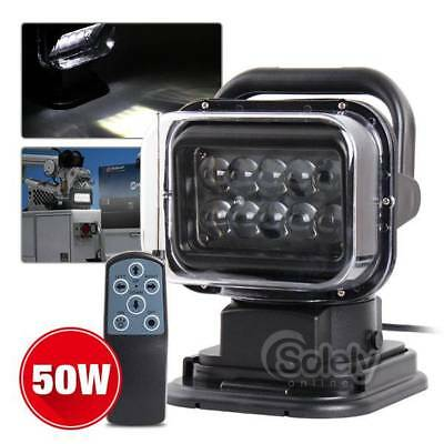 50W Spot Light Waterproof Remote Control LED Search Light For Truck Marine L