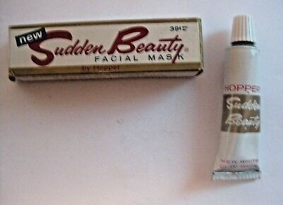 Vintage Sudden Beauty Facial Mask Cosmetics Advertising Tube & Box