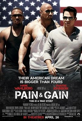 Pain and Gain - original DS movie poster - D/S 27x40 Final Rock, Wahlberg