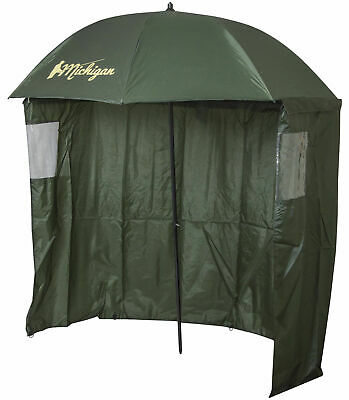 Carp/Sea Fishing Umbrella with Top Tilt and Zipped Sides/Windows Brolly Shelter