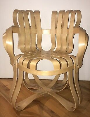 """Cross Check™ ChairFrank Gehry, """"ribbon"""" chair, vintage, excellent condition"""