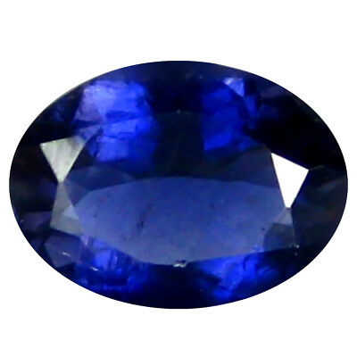 0.77 Ct AAA Remarquable Forme Ovale (8 X 6 mm) Iolite Naturel Libre