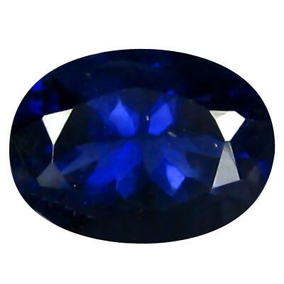 1.12 Ct AAA World Classe Forme Ovale (8 X 6 mm) Iolite Naturel Libre