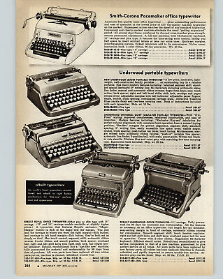 Other Merch & Memorabilia Ads 1958 Advertisement 2 Pg Typewriter Smith-corona Underwood Remington Royal Leader Quality First
