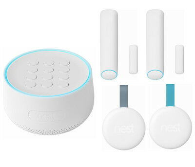 Nest Secure Home Security Alarm System Starter Pack w/ 2 Detect Sensors & 2 Tags