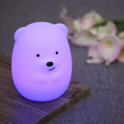 Baby Night Light Nursery Lamp - Cute Portable LED Soft Touch Safe For Kids