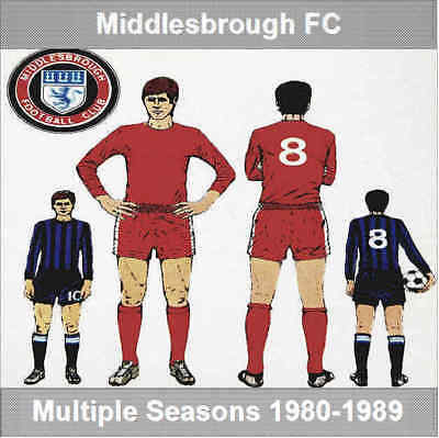 Programme Middlesbrough Football Club Programmes Seasons 1980 to 1989 - Various