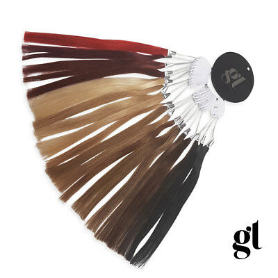Glamorous Lengths Remy Hair Extensions Colour Matching Salon Wheel - 20 Colours