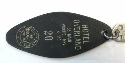 Hotel Overland Room Key Rm 20 From Haunted Pioche Nevada Casino & Saloon Vintage