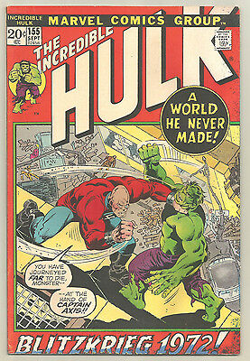 The Incredible Hulk # 155 Marvel Comics 1972 1st App. of The Shaper of Worlds