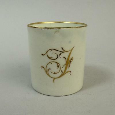 Antique Worcester Miniature Porcelain Cabinet Cup C.1790