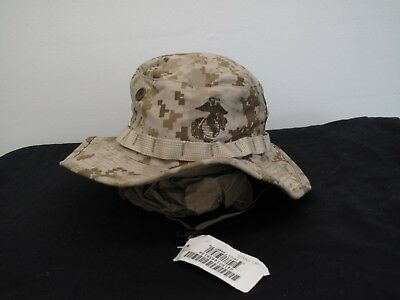 c9299be7f054d USMC MARINE CORPS Boonie Hat Cap Cover Field Marpat Woodland Large ...