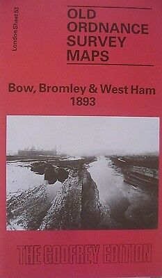 Old Ordnance Survey Detailed Maps Bow Bromley West Ham London 1893 Sheet 53 New
